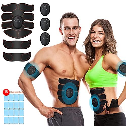 iThrough Stimulateur Musculaire, Electrostimulateurs et Ceintures Massage à Développer Les Muscles et à Modeler la Silhouette