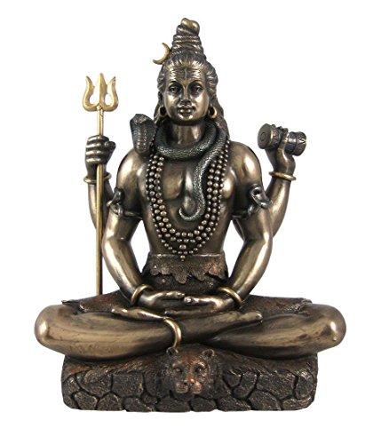 Shiva en Padmasana Lotus Pose hindú Estatua Figura Decorativa Buda