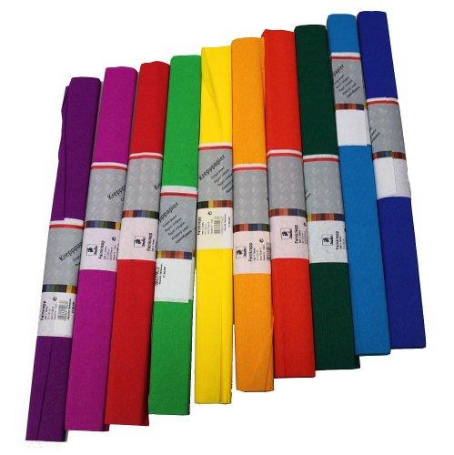 Staufen 617003 - Krepppapier 10 Rollen 50 x 250 cm, sortiert
