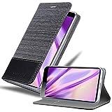 Cadorabo Hülle für Sony Xperia 10 Plus in GRAU SCHWARZ – Handyhülle mit Magnetverschluss, Standfunktion & Kartenfach – Case Cover Schutzhülle Etui Tasche Book Klapp Style
