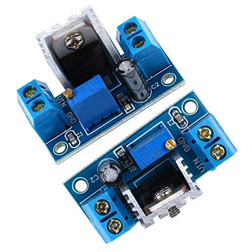 ARCELI 2 pcs LM317 Convertisseur DC-DC Buck Module de Carte de Circuit abaisseur régulateur linéaire Régulateur de Tension réglable Alimentation