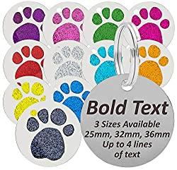 Engraved in BLACK LETTERING to make your text stand out! Up to 4 lines of engraving, we recommend no more then 15 characters per line Includes FREE Split Ring Click 'Customize Now', select which size & colour you would like, enter your required engra...