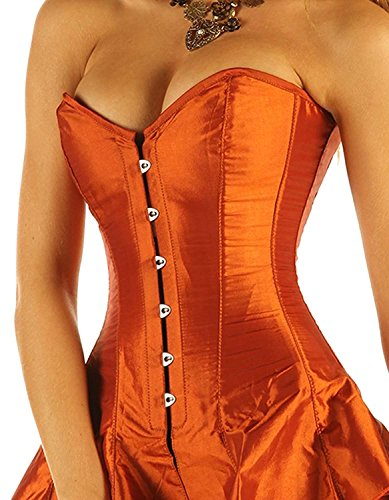 """Corseted Skirt Skirted Corset Full Steel Boned 1810 Tight Lacing CRS27 (32"""")"""