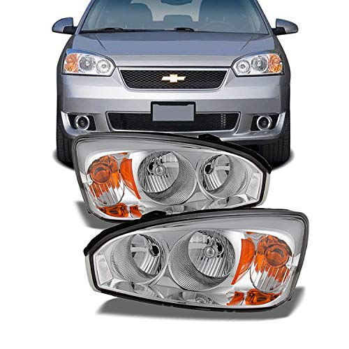 For Chevy Malibu OE Replacement Chrome Bezel Headlights Driver/Passenger Head Lamps Pair New