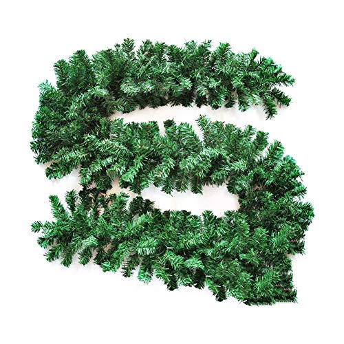 MOCEAN 9 Feet Christmas Garland Artificial Pine Decorative Wreath Holiday Wedding Party Doorway Mantle Wall Door Stairs Decorations