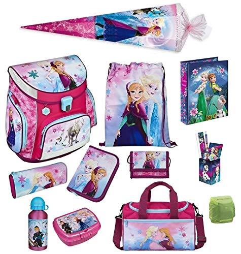 Familando Disney die Eiskönigin Anna & ELSA Schulranzen-Set 17tlg. Scooli Campus Fit mit Sporttasche, Regenschutz und Schultüte 85cm