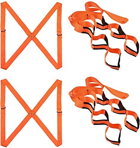 Cinturón móvil para levantamiento de hombros para 4 personas y correas para transportar fácilmente muebles, electrodomésticos, colchones o cualquier objeto pesado (Oragne)