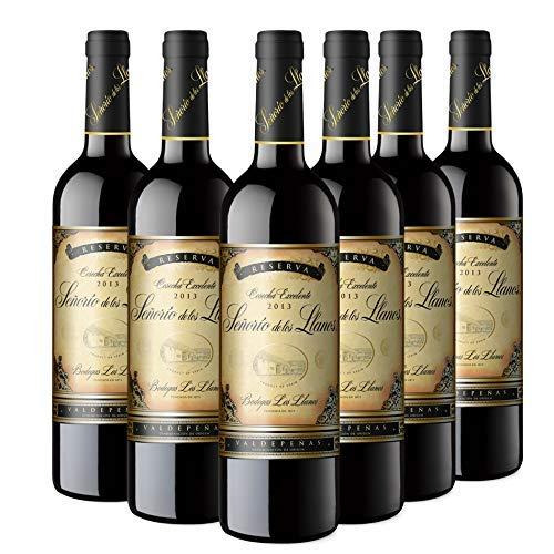 Señorío de los Llanos Reserva Vino Tinto D.O Valdepeñas - Pack de 6 Botellas x 750 ml