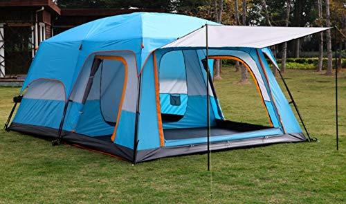Außenzelt 4-6 Personen-Zelt im Freien Zwei-Zimmer Einer Halle zweischichtige Mehrpersonen Camping Camping-Zelt regendicht Bergsteigen verdickt Zelt (Color : 2)