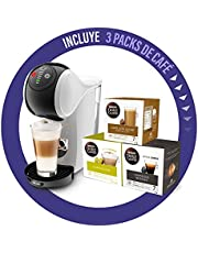 De'Longhi Dolce Gusto Genio S koffiezetapparaat in capsules, incl. 3 verpakkingen capsules, compact design, instelbare drankgrootte, afneembare watertank 0,8 l, EDG225.W, 1470 W, wit