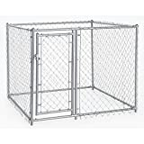 Lucky Dog CL-40528 5' x 5' x 4' Heavy Duty Outdoor Galvanized Chain...