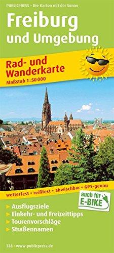 Freiburg und Umgebung: Rad- und Wanderkarte mit Ausflugszielen, Einkehr- & Freizeittipps, wetterfest, reissfest, abwischbar, GPS-genau. 1:50000 (Rad- und Wanderkarte / RuWK)