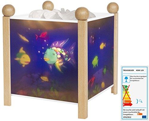 Trousselier Magische Laterne Regenbogenfisch, natur Schlummerlampe