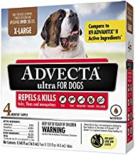 Advecta Ultra Flea and Tick Topical Treatment, Flea and Tick Control for Dogs, X-Large over 50lbs, 4 Month Supply