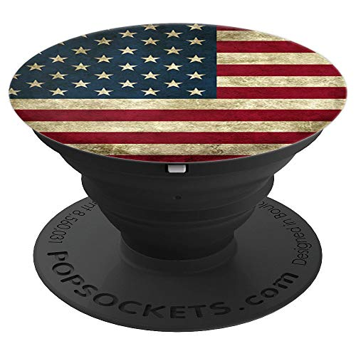 USA Flag Vintage American US Stars & Stripes Distressed PopSockets Grip and Stand for Phones and Tablets