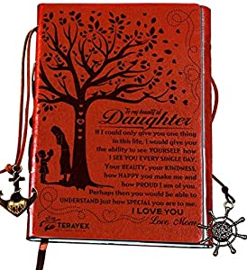 INSPIRATIONAL GIFTS FOR GIRLS - Your daughter would love to receive this elegantly crafted personal writer's notebook with unique designer cover for graduation, birthday, travel, wedding, recognition, deployment, reunion, Christmas, Hanukkah or any s...
