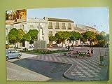 Antigua Postal - Old Postcard : Plaza Santa Quiteria - Alcazar de San Juan - Agradecimiento del Colegio de la Sagrada Familia para los colaboradores