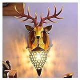 TIM-LI Jahrgang Antlers Resin Wandleuchte, Kreative Kristall Wandleuchte/Wohnzimmer/Bar/Cafe Hotelkorridor Dekorieren (Ohne Lichtquelle),B