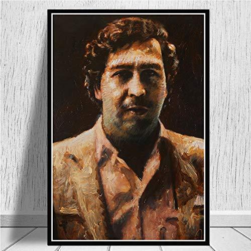SDFSD Pablo Escobar karakter legende retro vintage poster en prints schilderij muurkunst canvas wandafbeeldingen voor woonkamer wooncultuur 50x70 cm