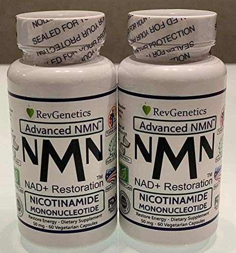 Revgenetics-NMN-Nicotinamide Mononucleotide 60 caps, Double Bottles Fast Ships from EU with GLS