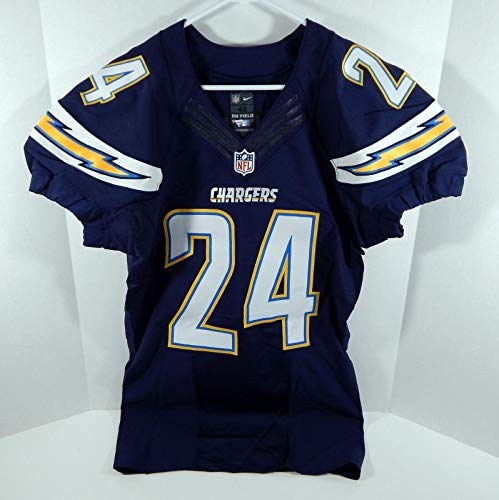 2015 San Diego Chargers Brandon Flowers #24 Game Issued Navy Jersey - Unsigned NFL Game Used Jerseys