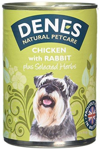 Denes Complete Adult Wet Dog Food Rabbit and Chicken, 12 x 400 g