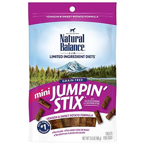 Natural Balance L.I.D. Limited Ingredient Diets Mini Jumpin' Stix Dog Treats, Venison & Sweet Potato Formula, 3.5 Ounces, Grain Free