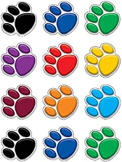 Teacher Created Resources Mini Accents, Colorful Paw Prints (5116)