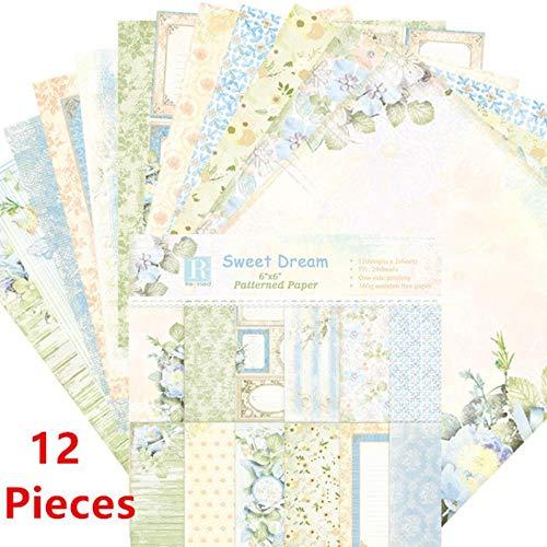 24 stks 6 inch multi stijl scrapbooking packs papier diy album hand account achtergrond pads papier kaart maken plakboek craft, stijl 27
