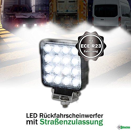 LED Rückfahrscheinwerfer 25 Watt 2100 Lumen, OSRAM Chips, Arbeitsscheinwerfer mit ECE R23 Zulassung, 60°, Für 12V 24V, z.B. LKW Traktor Offroad