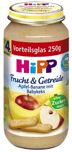 HiPP Apfel-Banane mit Babykeks Bio, 6er Pack (6 x 250 g)