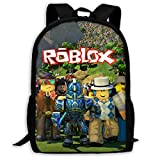 Ro-Blox Backpacks Boy'S Lightweight School Bag Cartoon Traveling Daypack 17 X 11 X 6 Inch