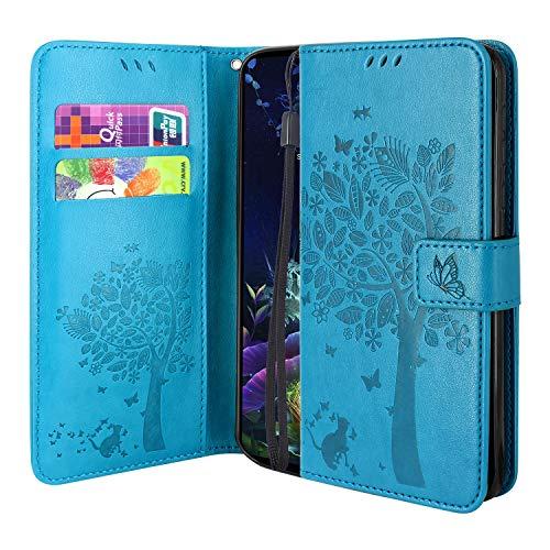 CMID Moto G7 Play Hülle, PU Leder Brieftasche Handytasche Flip Bookcase Schutzhülle Cover [Ständer][Handschlaufe] für Motorola Moto G7 Play 5.7