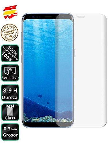 Movilrey Protector para Samsung S8 Plus Transparente Completo 3D Cristal Templado de...