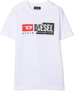Diesel T-Shirt Bimbo 00J4YH 00YI9 K100 Cotone Bianca Primavera Estate 2021