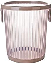 Recycling Bin Round Trash Can Without Cover Trash Recycling Box Plastic Trash Bin for Hotel Bathroom Kitchen Home Garbage ...