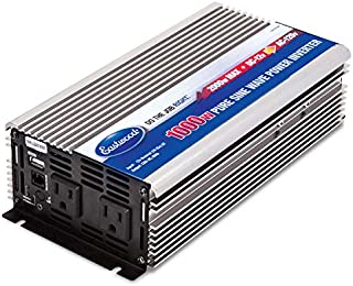 Eastwood 1000W Inverter Pure Sine Wave Power Inverter with Remote Control Dual Ac Outlets and USB Port for Cpap Rv Car Solar System Emergency