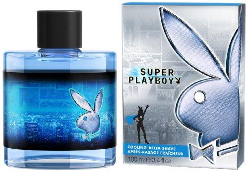 Playboy Super men After Shave 100 ml, 1er Pack (1 x 100 ml)