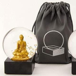 CoolSnowGlobes Buddha to Go Miniature Cool Snow Globe Gold Buddha