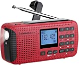 Retekess HR-11W Weather Radio AM FM NOAA Emergency Radio Solar Power Dynamo H