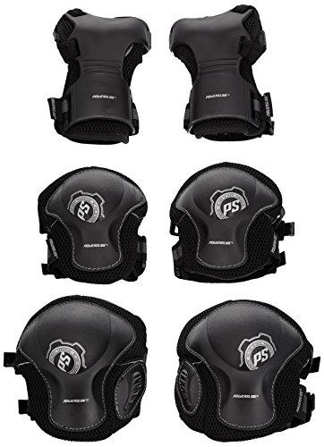 Powerslide Herren Schoner Pro Tri-Pack, Schwarz, XL