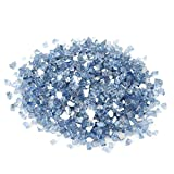 Stanbroil 10-Pound Fire Glass - 1/4 inch Reflective Tempered Fire Glass for Fireplace Fire Pit, Pacific Blue