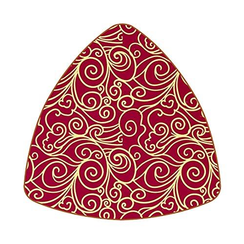 Bennigiry Juego de 6 posavasos con diseño de nubes chinas, color rojo