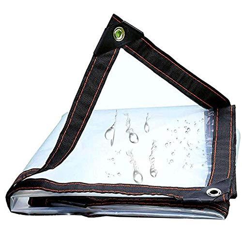 ADELALILI Lonas Clear Tarpaulin Impermeable Transparente con Ojales Tartas de jardín para Exteriores para Plantas para Plantas Techo de Hutch de Mascotas (Tamaño : 2x6m/6.5x19.7ft)