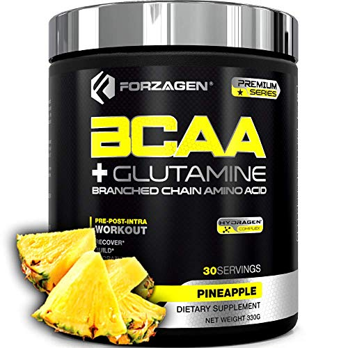 Forzagen Bcaa Powder + Glutamine - Bcaa Amino Acids With Electrolytes Keto Friendly And Essential Amino Acids Supplements | Post Workout Recovery Drink. (PINEAPPLE)