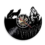 Lyy 12 ' Lobo Animales Silueta Moderno Pared Vinilo Reloj Moderno Guay Casa Interior...