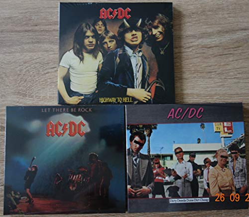 AC/DC best of 3 CD Album Set: Highway to Hell; Let There Be Rock; Dirty Deeds Done Dirt Cheap (Alle Special Edition Digipack)