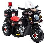 fit4form Kinder Elektro Trike Elektromotorrad 6V schwarz Kindermotorrad Licht u. Topcase