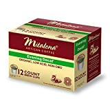 Mitalena Brand - 72 ct. Evening Decaf Organic Arabica Low Acid Coffee Single Serve Brew Cups