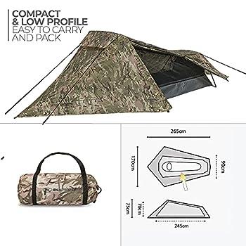 HIGHLANDER Blackthorn 1-Hmtc Tente Mixte Adulte, Camo